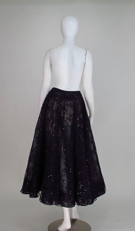 Oscar de la Renta black tulle moon & star evening skirt 5
