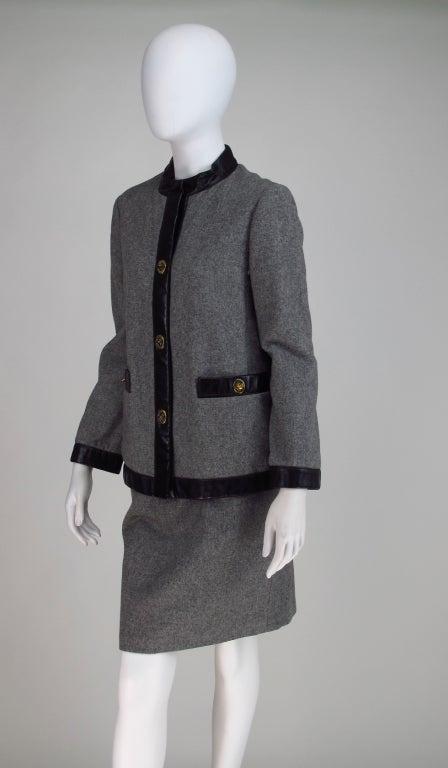 1960s Bonnie Cashin Sills wool & leather suit 3