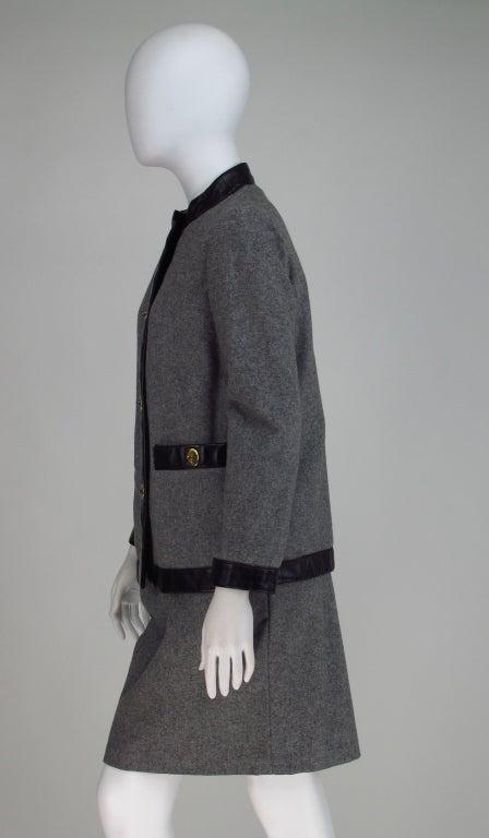 1960s Bonnie Cashin Sills wool & leather suit 4