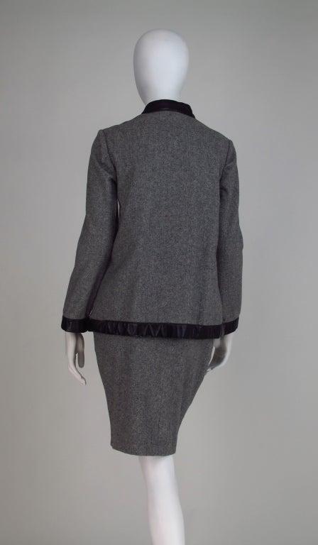 1960s Bonnie Cashin Sills wool & leather suit 5