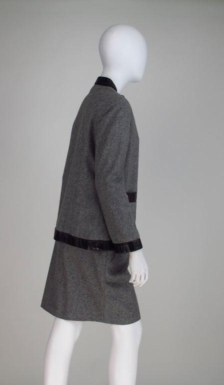 1960s Bonnie Cashin Sills wool & leather suit 6