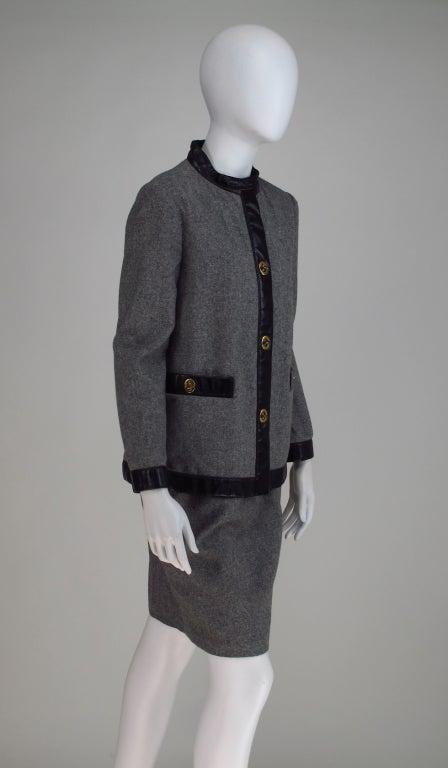 1960s Bonnie Cashin Sills wool & leather suit 7