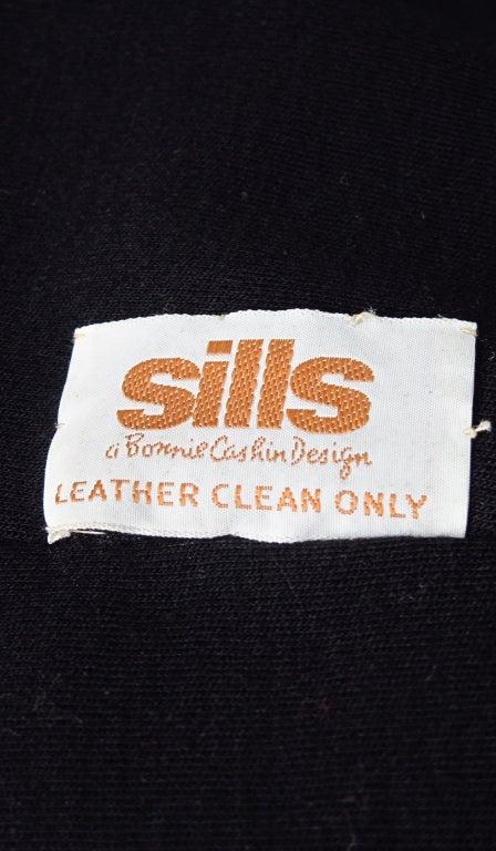 1960s Bonnie Cashin Sills wool & leather suit 9