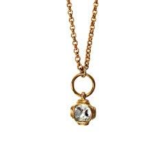 Givenchy big diamante charm necklace