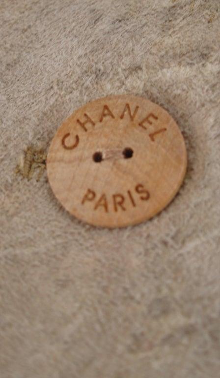 1990s Chanel distressed buckskin jacket For Sale 4