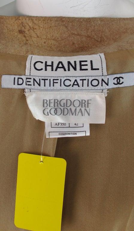 1990s Chanel distressed buckskin jacket For Sale 5