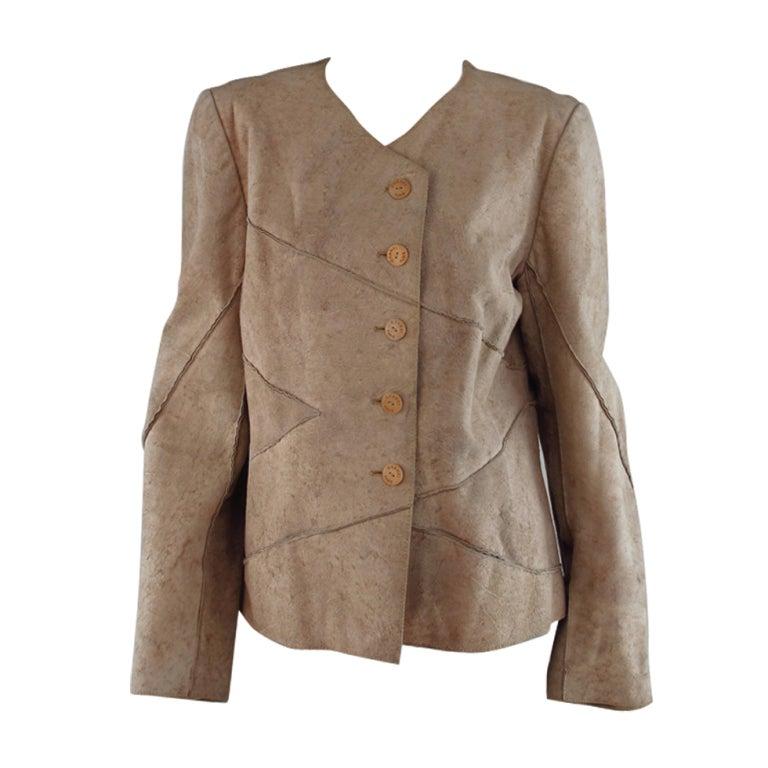 1990s Chanel distressed buckskin jacket
