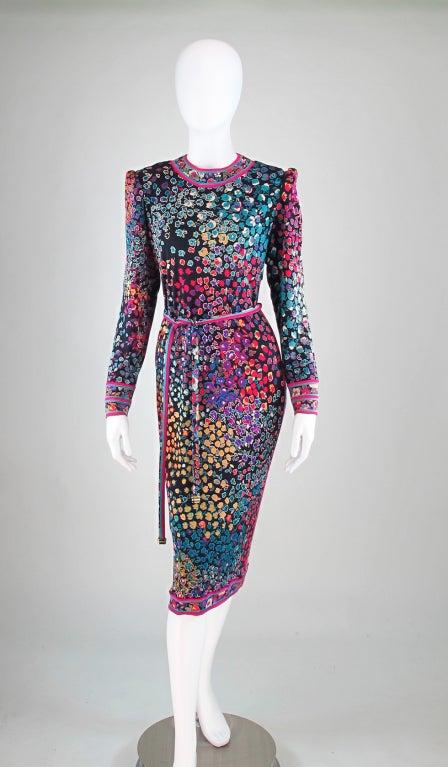 Leonard Paris Silk Print Dress At 1stdibs
