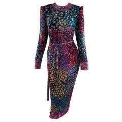Leonard, Paris silk print dress