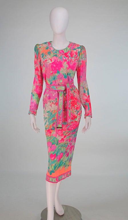 Leonard, Paris silk knit dress 2