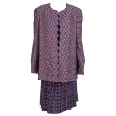 Chanel 3pc wool & silk set larger size