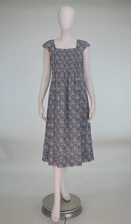 1970s Cacharel Liberty Of London Floral Dress At 1stdibs