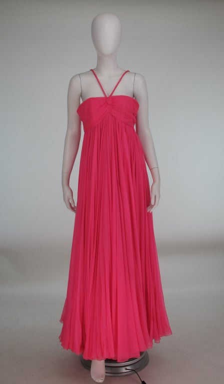 1950s The Adam Room at Saks chiffon evening gown 2