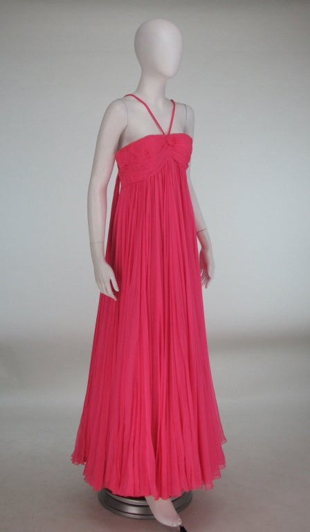 1950s The Adam Room at Saks chiffon evening gown 3