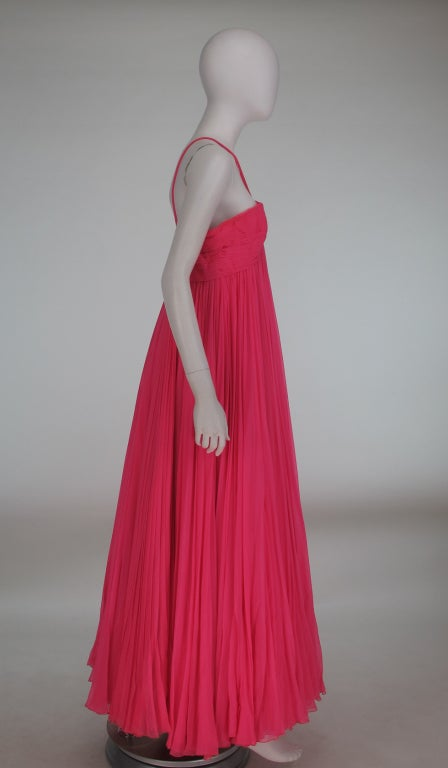 1950s The Adam Room at Saks chiffon evening gown 4