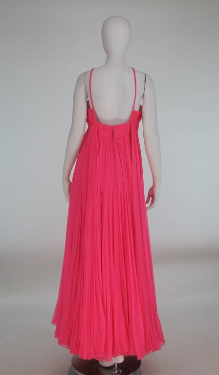 1950s The Adam Room at Saks chiffon evening gown 5