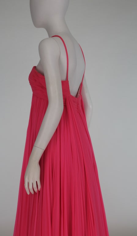1950s The Adam Room at Saks chiffon evening gown 6
