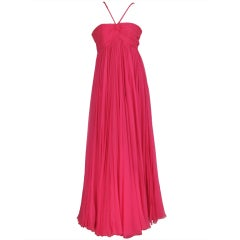 1950s The Adam Room at Saks chiffon evening gown