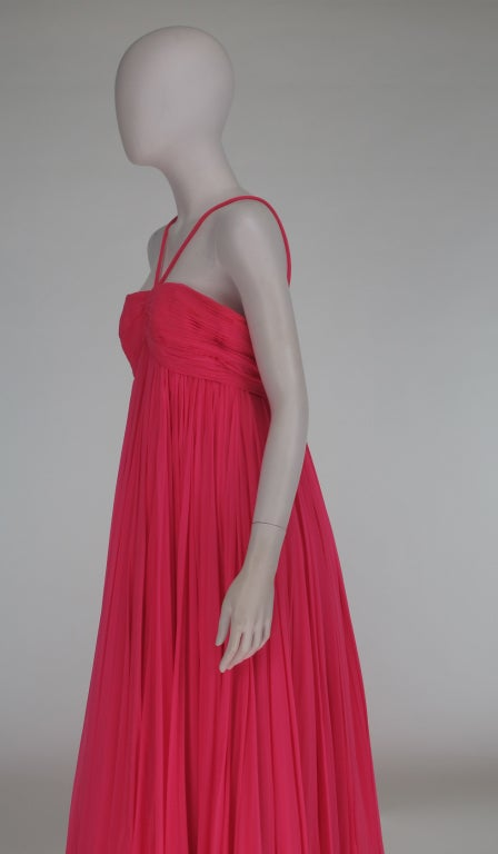 1950s The Adam Room at Saks chiffon evening gown 7