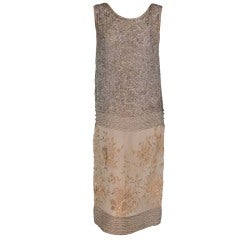 Gatsby era beaded & embroidered flapper dress