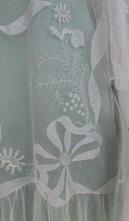 1920s Gatsby era embroidered tulle tea/wedding dress 10