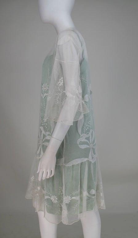 1920s Gatsby era embroidered tulle tea/wedding dress 5