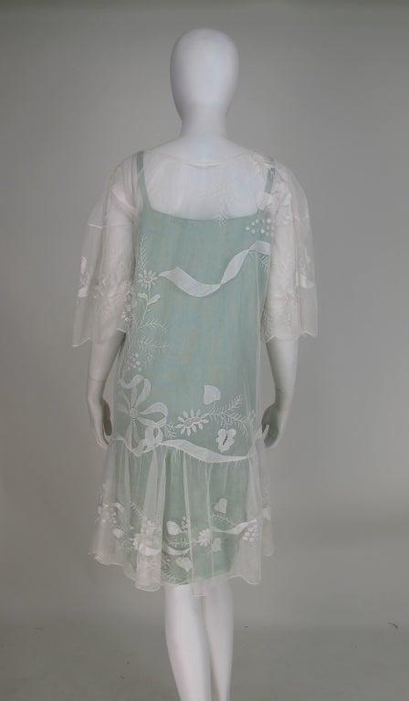 1920s Gatsby era embroidered tulle tea/wedding dress 7
