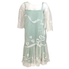 1920s Gatsby era embroidered tulle tea/wedding dress