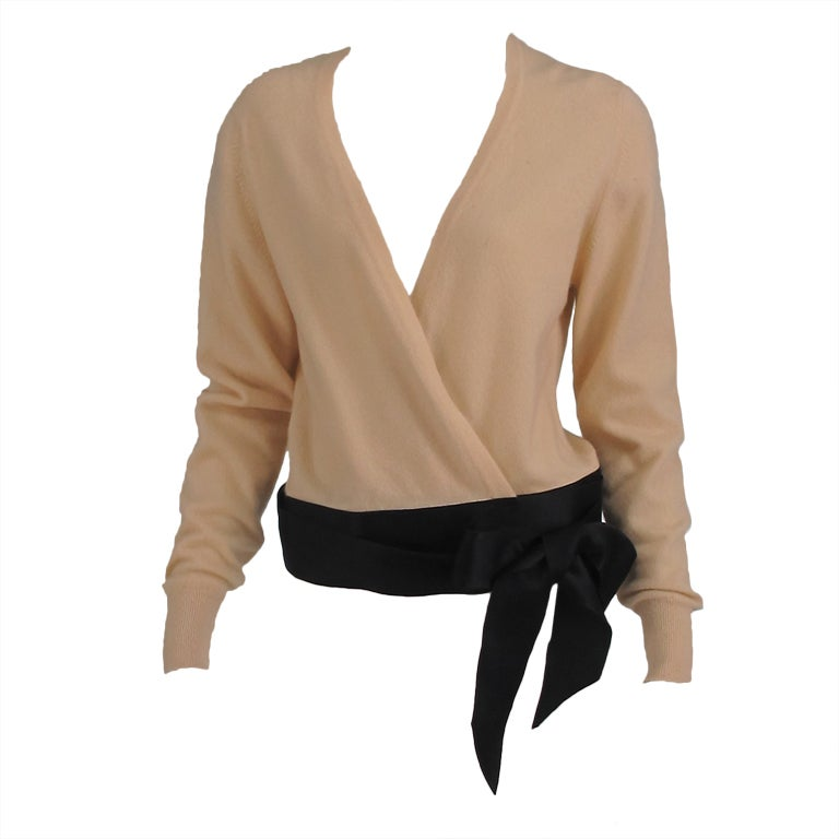 Chanel  cashmere wrap sweater