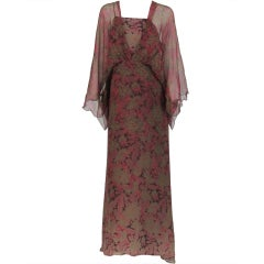 Gina Fratini ombred silk chiffon gown
