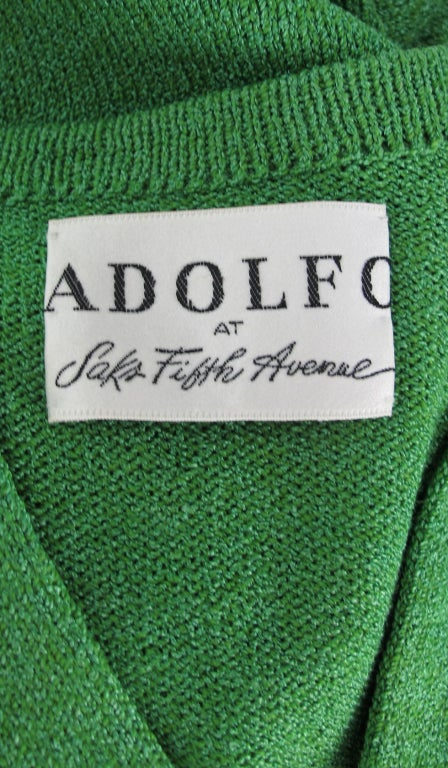 Adolfo boucle cage sleeve hostess gown 1970s 10