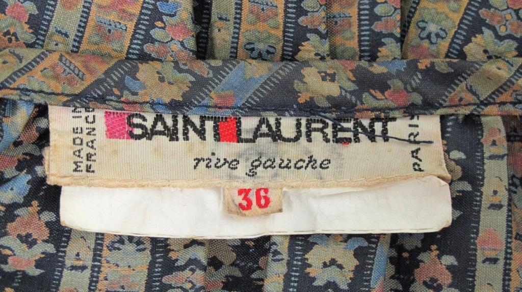 Yves St Laurent 70's silk gypsy blouse and skirt ensemble 10