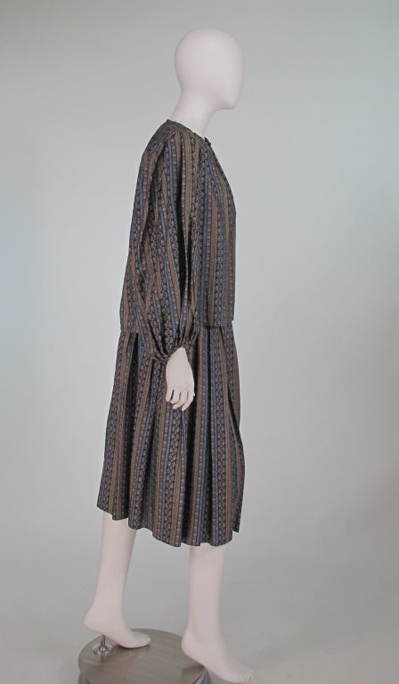 Yves St Laurent 70's silk gypsy blouse and skirt ensemble In Excellent Condition For Sale In West Palm Beach, FL