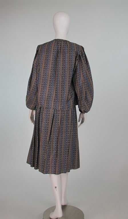 Yves St Laurent 70's silk gypsy blouse and skirt ensemble For Sale 1