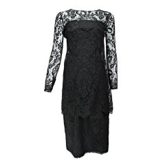 Guy Laroche Couture Guipure lace cocktail dress