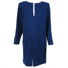 1980s Yves St Laurent YSL  wool knit tunic dress