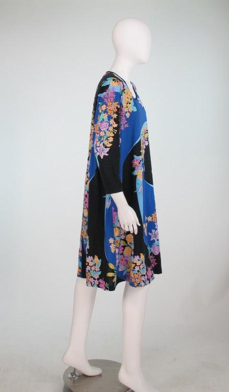 Purple Averardo Bessi fine cotton knit tent dress For Sale