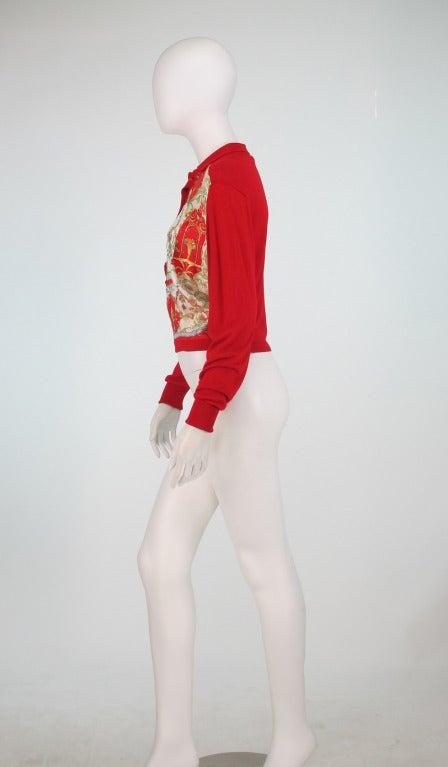 Etro silk print & knit sweater 3