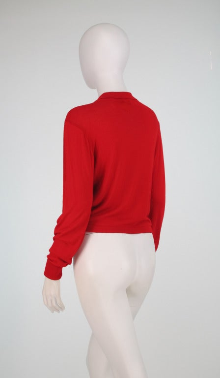 Etro silk print & knit sweater 4
