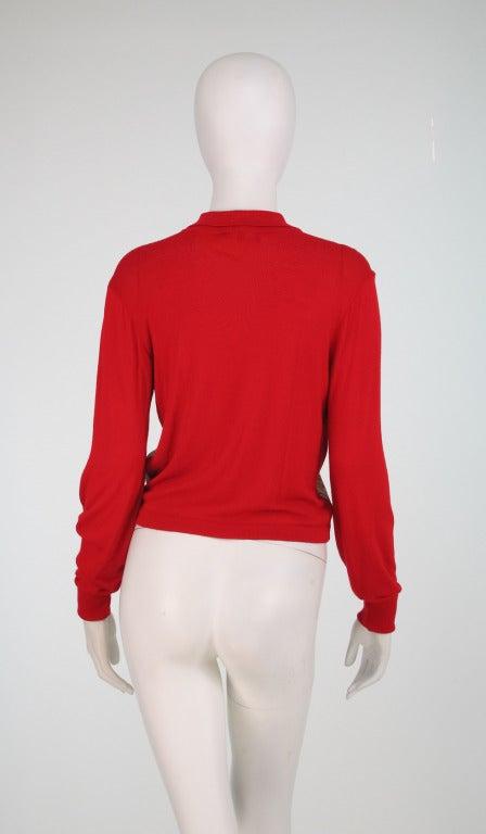 Etro silk print & knit sweater 5