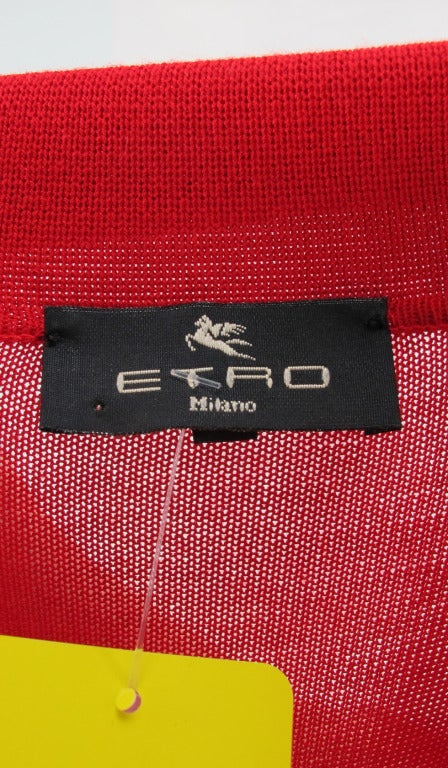Etro silk print & knit sweater 9