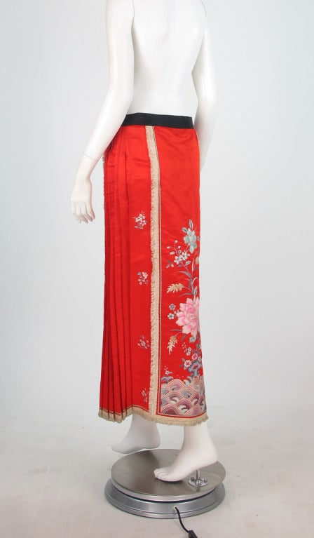 1920s silk embroidered Chinese evening skirt 5