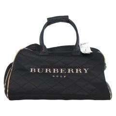 Burberry golf quilted nylon & leather tote bag