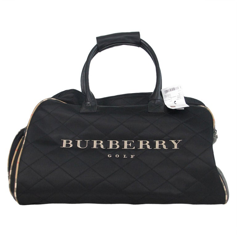 19fd37e8a9bd Burberry golf quilted nylon and leather tote bag at 1stdibs