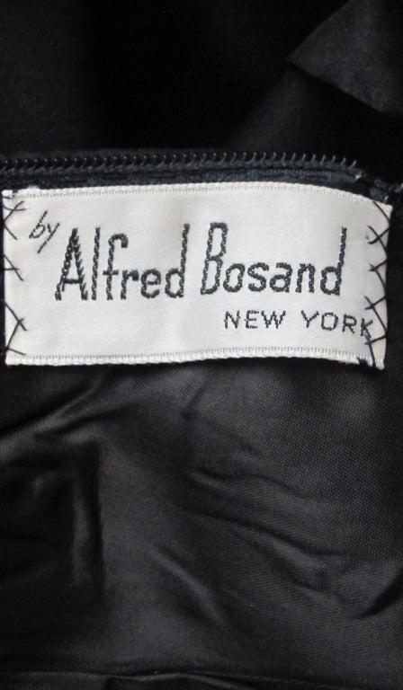 Alfred Bosand cape shoulder organza illusion gown 10