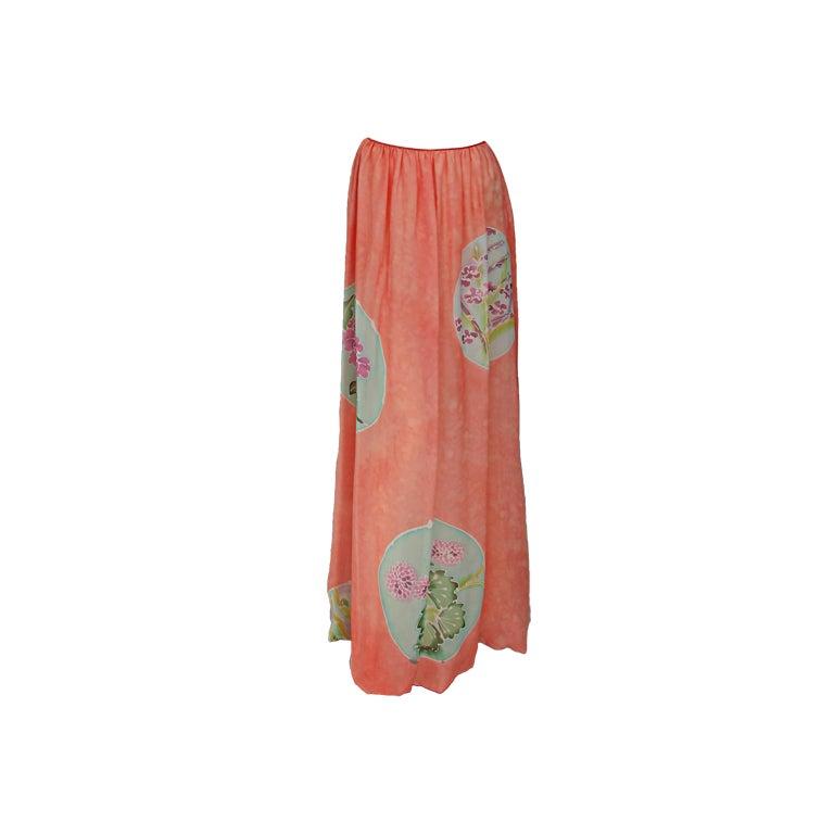 Mary McFadden painted & batik skirt