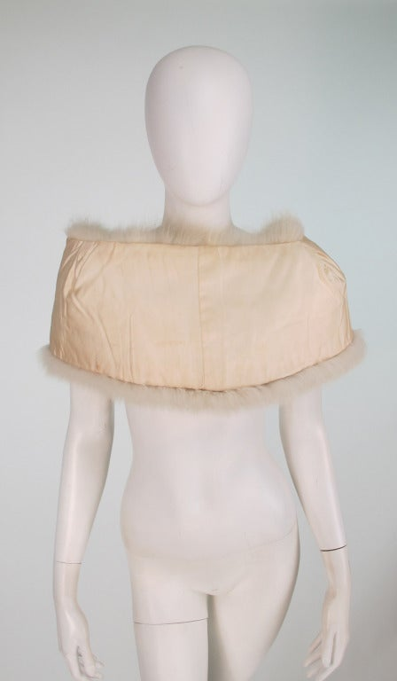 1950s white fox fur stole eveing wrap 10