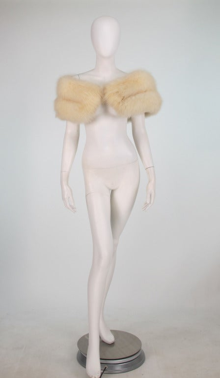 1950s white fox fur stole eveing wrap 2