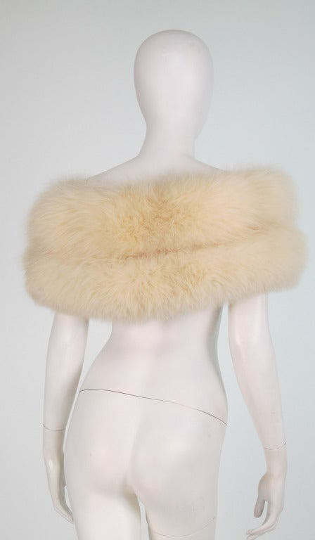 1950s white fox fur stole eveing wrap 3