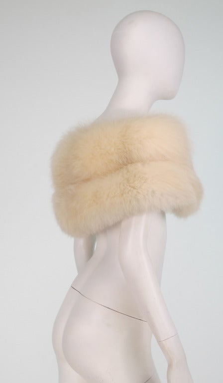 1950s white fox fur stole eveing wrap 4